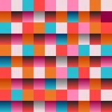 Διανυσματικό ροζ σχεδίων χρώματος τετραγωνικό Στοκ Εικόνα