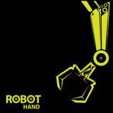 Διανυσματικό ρομποτικό σύμβολο βραχιόνων Χέρι και πεταλούδα ρομπότ διανυσματική απεικόνιση