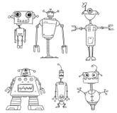 Διανυσματικό ρομπότ Set03 κινούμενων σχεδίων Στοκ εικόνα με δικαίωμα ελεύθερης χρήσης