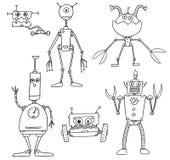 Διανυσματικό ρομπότ Set04 κινούμενων σχεδίων Στοκ Εικόνες