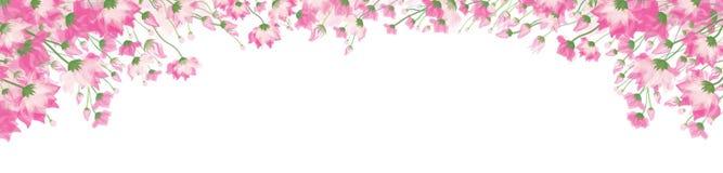 Διανυσματικό ρόδινο, floral πλαίσιο Στοκ εικόνα με δικαίωμα ελεύθερης χρήσης