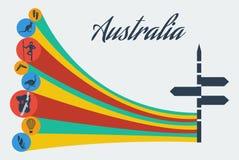 Διανυσματικό σαφάρι της Αυστραλίας Στοκ εικόνες με δικαίωμα ελεύθερης χρήσης