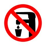 Διανυσματικό σημάδι πόσιμου νερού στοκ φωτογραφία