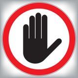 Διανυσματικό σημάδι απαγόρευσης στάσεων χεριών απεικόνιση αποθεμάτων