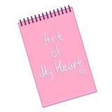 Διανυσματικό σημειωματάριο με το κείμενο στην κάλυψη: Τέχνη της καρδιάς μου ελεύθερη απεικόνιση δικαιώματος