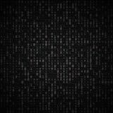 Διανυσματικό σκοτεινό υπόβαθρο δυαδικού κώδικα Μεγάλα στοιχεία και προγραμματισμός, χάραξη, αποκρυπτογράφηση, κρυπτογράφηση, αριθ διανυσματική απεικόνιση