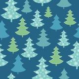 Διανυσματικό σκούρο μπλε, πράσινο διεσπαρμένο άνευ ραφής σχέδιο χειμερινών διακοπών χριστουγεννιάτικων δέντρων Μεγάλος για το ύφα Στοκ εικόνες με δικαίωμα ελεύθερης χρήσης