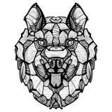 Διανυσματικό σκυλί Zentangle γεροδεμένο Στοκ εικόνα με δικαίωμα ελεύθερης χρήσης