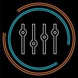 Διανυσματικό στερεοφωνικό σύμβολο εξισωτών - στερεοφωνικός ήχος ελεύθερη απεικόνιση δικαιώματος