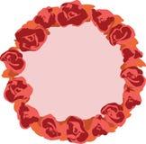 Διανυσματικό στεφάνι με τα λουλούδια Στοκ Εικόνα