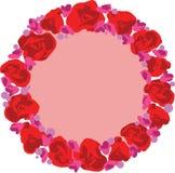 Διανυσματικό στεφάνι με τα λουλούδια Στοκ φωτογραφία με δικαίωμα ελεύθερης χρήσης