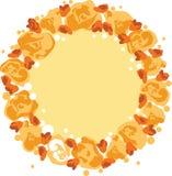 Διανυσματικό στεφάνι με τα λουλούδια Στοκ εικόνες με δικαίωμα ελεύθερης χρήσης