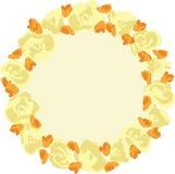 Διανυσματικό στεφάνι με τα λουλούδια Στοκ Φωτογραφία