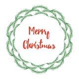 Διανυσματικό στεφάνι χριστουγεννιάτικων δέντρων Στοκ Φωτογραφία