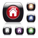 Διανυσματικό στιλπνό κουμπί για το σχέδιο Ιστού. Στοκ Εικόνες