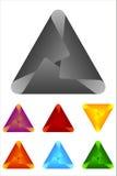 Διανυσματικό στοιχείο λογότυπων τριγώνων. Στοκ Εικόνες