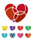 Διανυσματικό στοιχείο λογότυπων καρδιών αγάπης σχεδίου Στοκ Φωτογραφία