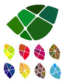 Διανυσματικό στοιχείο λογότυπων φύλλων σχεδίου Στοκ εικόνα με δικαίωμα ελεύθερης χρήσης