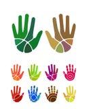 Διανυσματικό στοιχείο λογότυπων χεριών σχεδίου Στοκ Φωτογραφίες