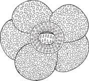 Διανυσματικό στοιχείο λουλουδιών Rafflesia τροπικό Στοκ φωτογραφίες με δικαίωμα ελεύθερης χρήσης
