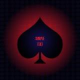 Διανυσματικό στοιχείο πόκερ Στοκ εικόνα με δικαίωμα ελεύθερης χρήσης