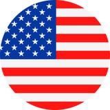 Διανυσματικό στρογγυλό επίπεδο εικονίδιο Ηνωμένων σημαιών Στοκ φωτογραφία με δικαίωμα ελεύθερης χρήσης