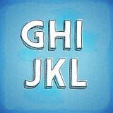 Συρμένη χέρι πηγή γ-λ ύφους Doodle Στοκ φωτογραφία με δικαίωμα ελεύθερης χρήσης