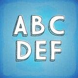 Συρμένη χέρι πηγή AF ύφους Doodle Στοκ φωτογραφία με δικαίωμα ελεύθερης χρήσης