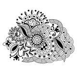 Διανυσματικό συρμένο χέρι διακοσμητικό floral σχέδιο στο ύφος του zent Στοκ εικόνα με δικαίωμα ελεύθερης χρήσης
