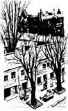 Διανυσματικό συρμένο χέρι σκίτσο πόλεων για το σχέδιό σας Πέρα από την καλλιτεχνική εικόνα άποψης της Οδησσός Ουκρανία Στοκ φωτογραφία με δικαίωμα ελεύθερης χρήσης