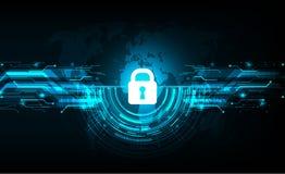 Διανυσματικό σχέδιο ασφάλειας cyber στο υπόβαθρο τεχνολογίας Στοκ Φωτογραφίες