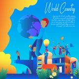 Διανυσματικό σχέδιο εμβλημάτων παγκόσμιας χώρας στοκ φωτογραφία με δικαίωμα ελεύθερης χρήσης