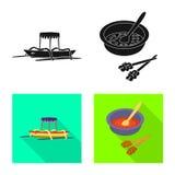 Διανυσματικό σχέδιο και σύμβολο ταξιδιού Σύνολο και παραδοσιακή διανυσματική απεικόνιση αποθεμάτων ελεύθερη απεικόνιση δικαιώματος