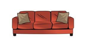 Διανυσματικό σχέδιο καναπέδων ελεύθερη απεικόνιση δικαιώματος