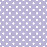 Διανυσματικό σχέδιο κεραμιδιών με τα άσπρα σημεία Πόλκα στο ιώδες υπόβαθρο κρητιδογραφιών Στοκ εικόνα με δικαίωμα ελεύθερης χρήσης