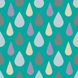 Διανυσματικό σχέδιο με τις πτώσεις βροχής Άνευ ραφής χαριτωμένο υπόβαθρο Περίληψη απεικόνιση αποθεμάτων