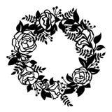 Διανυσματικό σχέδιο τέχνης περικοπών εγγράφου σημαδιών κύκλων στεφανιών ανθών λουλουδιών ελεύθερη απεικόνιση δικαιώματος