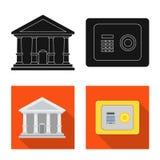 Διανυσματικό σχέδιο του εικονιδίου τραπεζών και χρημάτων Συλλογή του διανυσματικού εικονιδίου τραπεζών και λογαριασμών για το από διανυσματική απεικόνιση