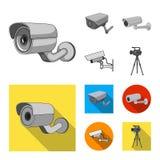 Διανυσματικό σχέδιο του συμβόλου camcorder και καμερών Συλλογή του camcorder και του διανυσματικού εικονιδίου ταμπλό για το απόθε απεικόνιση αποθεμάτων