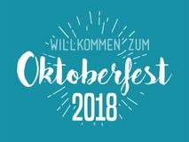 Διανυσματικό σχέδιο τυπογραφίας Oktoberfest για τις ευχετήριες κάρτες και την αφίσα Διανυσματικό έμβλημα φεστιβάλ μπύρας διανυσματική απεικόνιση