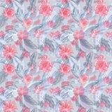 Διανυσματικό σχέδιο φτερών και λουλουδιών Στοκ Εικόνες