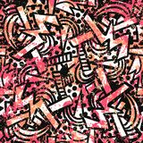 Διανυσματικό σχέδιο grunge με τα doodles και τις κακογραφίες ελεύθερη απεικόνιση δικαιώματος