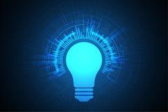 Διανυσματικό σχέδιο λαμπτήρων τεχνολογίας Στοκ Εικόνα