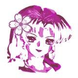 Διανυσματικό σχέδιο γυναικών Anime clipart Στοκ φωτογραφία με δικαίωμα ελεύθερης χρήσης