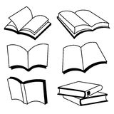 Διανυσματικό σχέδιο εικονιδίων γραμμών βιβλίων Στοκ Φωτογραφίες