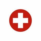 Διανυσματικό σχέδιο εικονιδίων εξαρτήσεων πρώτων βοηθειών Στοκ φωτογραφίες με δικαίωμα ελεύθερης χρήσης