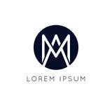 Διανυσματικό σχέδιο εικονιδίων σημαδιών κύκλων λογότυπων Minimalistic AM Στοκ φωτογραφίες με δικαίωμα ελεύθερης χρήσης
