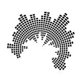 Διανυσματικό σχέδιο εικονιδίων συμβόλων κύκλων υγιών κυμάτων μουσικής εξισωτών απεικόνιση αποθεμάτων