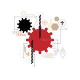 Διανυσματικό σχέδιο εργαλείων τεχνολογίας Στοκ Εικόνες