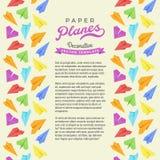 Διανυσματικό σχέδιο διακόσμησης φιαγμένο από αεροπλάνα εγγράφου Στοκ φωτογραφίες με δικαίωμα ελεύθερης χρήσης